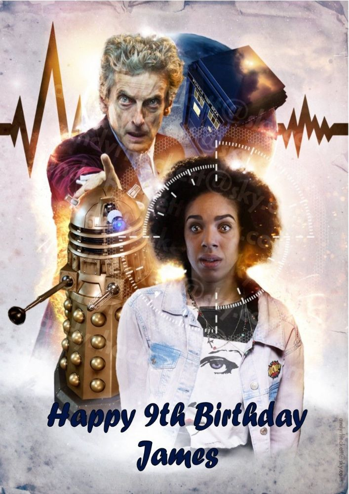 Personalised Doctor Who Birthday Card